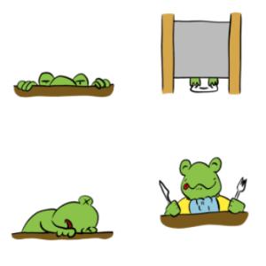 【ユニーク】Lineスタンプ!フロッグバートの生活02 / LINE Stamp: Frogbert Life 02