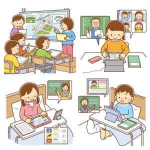 【クリップアート】デジタル・オンライン学習のイラスト2