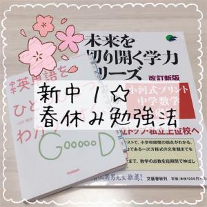 小6(新中1)☆中学校入学のための春休み勉強法(数学編)