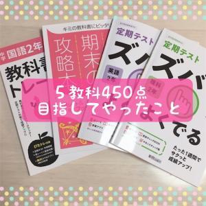 中2☆1学期期末テストで5教科450点を目指してやったこと(国語・英語・社会)