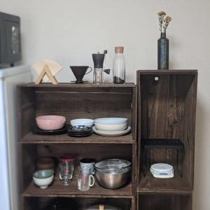 【DIY】りんご箱を食器棚にしました。購入したのお店や作り方などを紹介