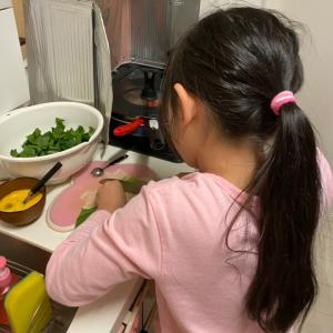 長女の手料理スープ