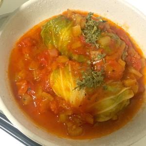 【料理】ロール白菜のトマト煮