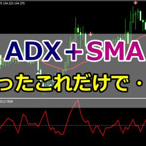 ADXとSMAのコンビで逆張りを狙っていく手法