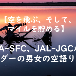 【Vlog】ANA-SFC、JAL-JGCホルダーの男女の空語り