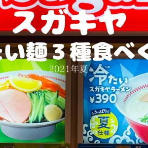 スガキヤレポート 2021夏メニュー 冷たい麺3種食べくらべ