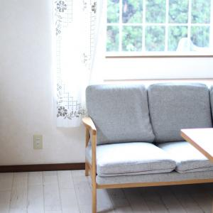 リビングのソファーをスッキリさせました♪