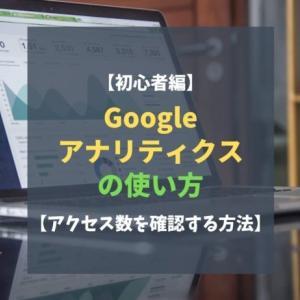 【初心者編】Googleアナリティクスの使い方【アクセス数を確認する方法】