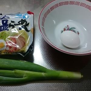 簡単料理『スープ抜き半熟卵ラーメン』