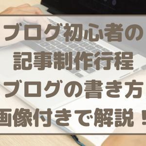 ブログ初心者の記事制作行程/ブログの書き方 画像付きで解説!