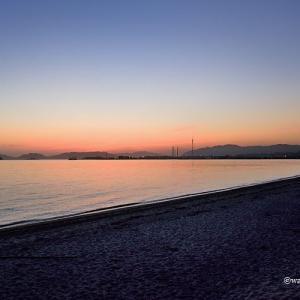 室積海岸の日暮れ、山口県 2005