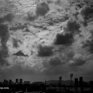 天空景、クアラルンプール、マレーシア 2020年9月