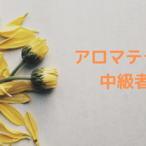 【アロマテラピー】中級者編