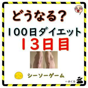 【シーソーゲーム】100日ダイエット13日目(残り87日)