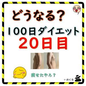 【ついに3キロ痩せ成功!】100日ダイエット20日目(残り80日)