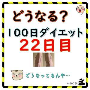 【一気に痩せた】100日ダイエット22日目(残り78日)