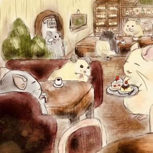 【お絵描き】カフェ〜