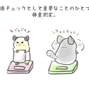 【絵にっき】体重測定