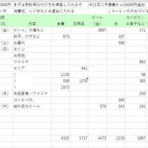 家計簿〆、3月用作り直し【禁酒を決意】