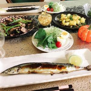 秋の土用に秋刀魚や茄子など青いものを食べます
