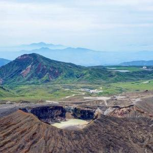 阿蘇古坊中登山口から中岳登山