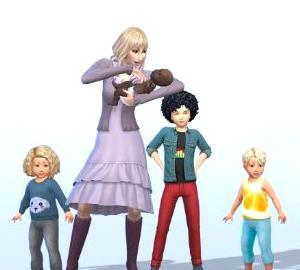【Sims4】008.ノブレス・ヴィオレ 01【世帯紹介】