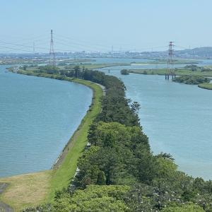 大河を完璧に分流した大土木工事の証を見る。