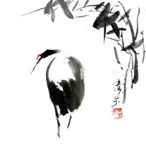 竹に鶴1023