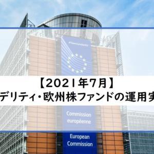 2021年7月(12ヶ月)フィデリティ・欧州株ファンド運用実績