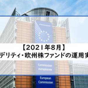 2021年8月(13ヶ月)フィデリティ・欧州株ファンド運用実績