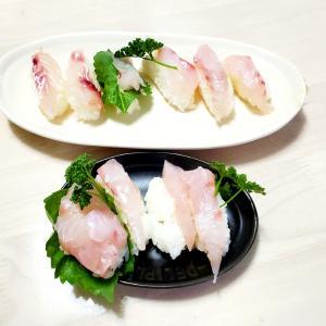 鯛の昆布締めでお寿司(^^)d