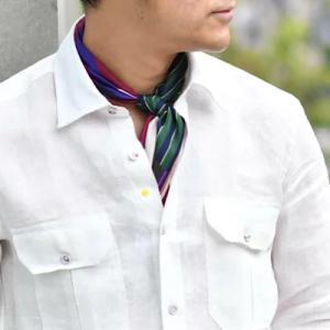 上品リラックス感 着丈も良い長さGiannetto【ジャンネット】ミリタリーシャツ ALPHA リネン