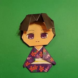 鬼滅の刃(きめつのやいば)の折り紙たまよ(珠世)★折り方作り方を紹介!