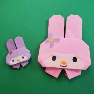 折り紙のマイメロちゃんの作り方折り方☆簡単かわいいサンリオキャラクター