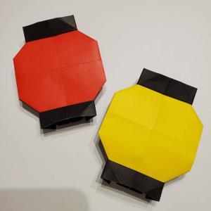 提灯の折り紙(平面)を簡単な折り方で手作り☆夏のお祭りや七夕飾りにも♪