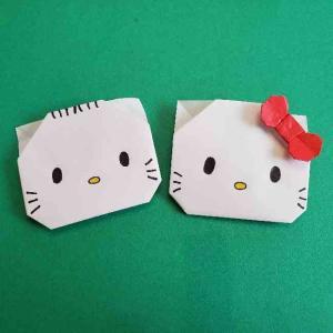 キティとダニエルの折り紙はお雛様にも!かわいいカップルの折り方作り方