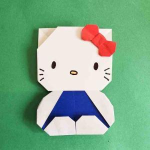 キティちゃんの体の折り方 全身を折り紙で★簡単でかわいいハローキティーの作り方