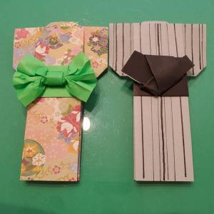 8月の折り紙 浴衣 男も女もこの折り方1つでOK!夏のお祭り会にピッタリ♪