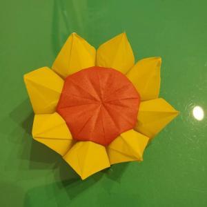 折り紙のひまわりは立体的だと難しい?!花の作り方折り方を画像で紹介!
