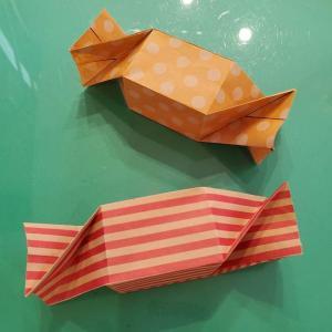 折り紙 キャンディーボックスの簡単な折り方★飴入れがかわいい!