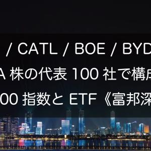 CATL / BOE / BYD / ZTE等々、深圳A株の代表100社で構成する深証100指数とETF《富邦深100》