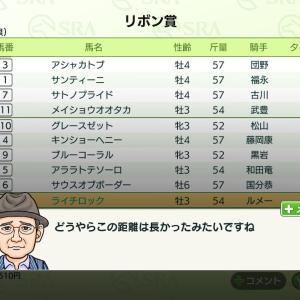 ダビスタ#2-3 2番仔ライチロック♂「距離」
