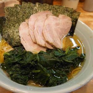 チャーシュー麺+ほうれん草+海苔  武蔵家稲田堤店