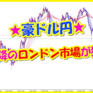 豪ドル円★16時以降のロンドン市場が狙い目!