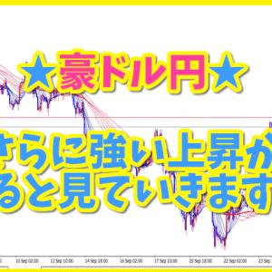 豪ドル円★さらに強い上昇があると見ていきます♪