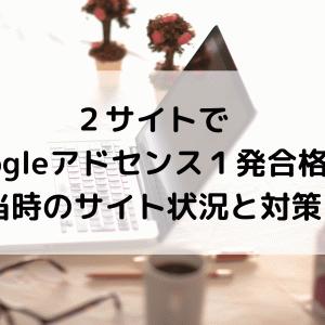【2020】2サイトでGoogleアドセンス1発合格!当時のサイト状況と対策