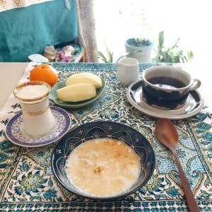 豆乳オートミールのあたたかい朝ごはん