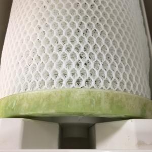 【ジアイーノ】排水トレーと除菌フィルターのプラスチックに緑色の汚れが出る現象