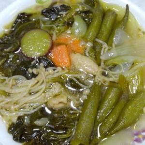 レクチンフリーモロヘイヤとオクラの健康スープ