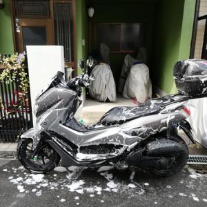 原付二種スクーター水洗いバイク洗車